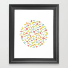 What the flock? Framed Art Print