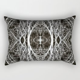 Abstract Black and White 1494 Rectangular Pillow