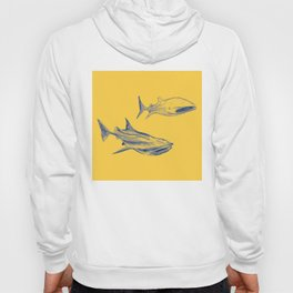 whale sharks - gold Hoody