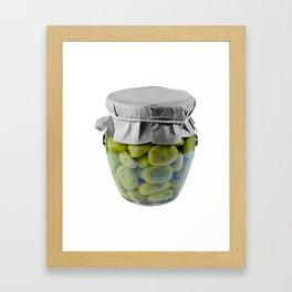Canned Broad Beans Framed Art Print