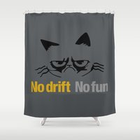 audi Shower Curtains featuring No drift No fun v1 HQvector by Vehicle