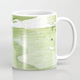 Green khaki clouded wash drawing texture Coffee Mug
