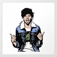 louis tomlinson Art Prints featuring Louis Tomlinson by 90's Class