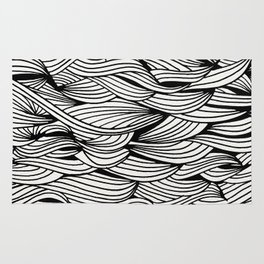 Waves – Black Ink Rug
