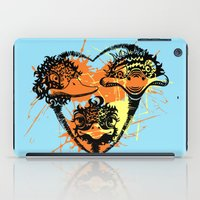 ostrich iPad Cases featuring Ostrich couple by SilviaGancheva