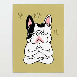 Namaste French Bulldog Poster