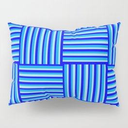 Havana Cabana - Blue Weave Stripe Pillow Sham