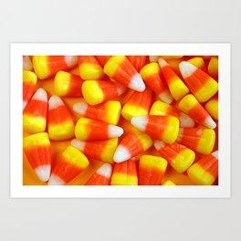 Halloween candy corn Art Print