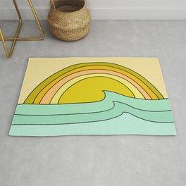 ride rainbows // retro surf soul // art by surfy birdy Rug