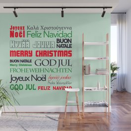 different languages III merry christmas Wall Mural