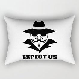 We are anonymous Rectangular Pillow