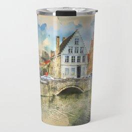 Beautiful Bruges Belgium Travel Mug