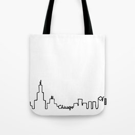 Chicago Skyline Abstract Sketch Tote Bag