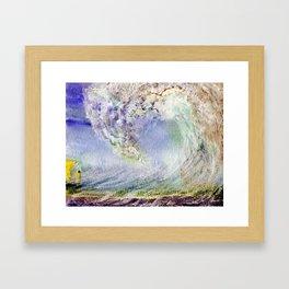 Fury Tsunami by Maureen Donovan Framed Art Print