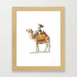 Woman on a Camel Framed Art Print