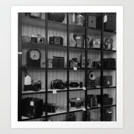 Cameras in a Thrift Store Art Print