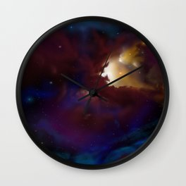 Bat Nebula  Wall Clock