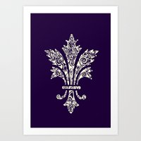 royal Art Prints featuring Royal by Candace Fowler Ink&Co.