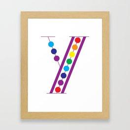 Y – Color Framed Art Print