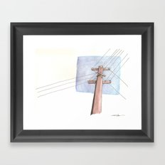 In a Network of Lines that Intersect Framed Art Print