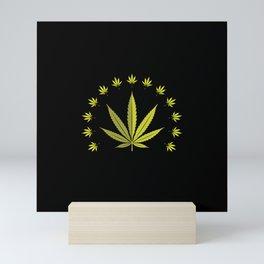 Cannabis leaf   Smoke Weed Pot Marijuana Gift Idea Mini Art Print
