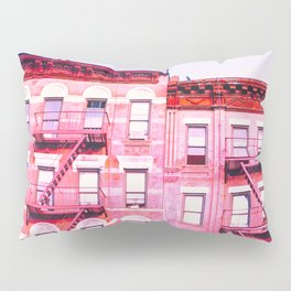 New York City Pink Buildings Pillow Sham
