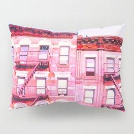 New York City Pink Buildings Pillow Sham