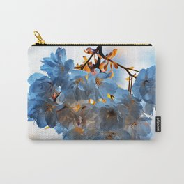 SPRING BLOSSOMS - IN BLUE Carry-All Pouch