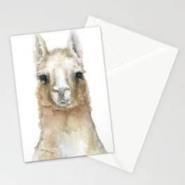 Llama Watercolor Painting Stationery Cards