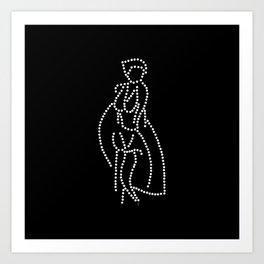 - marilyn in dots - Art Print