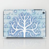 gondor iPad Cases featuring Tree of Gondor by JadeJonesArt