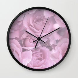 Pink Rose Bouquet Romantic Atmosphere #decor #society6 #buyart Wall Clock
