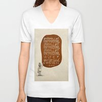 kendrick lamar V-neck T-shirts featuring Kendrick Lamar; What Rappers Say Series 7/8 by Jaron Lionel