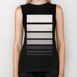 Grey Minimalist Watercolor Mid Century Staggered Stripes Rothko Color Block Geometric Art Biker Tank
