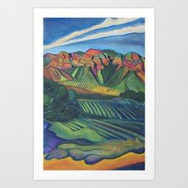 Topa Winery Art Print