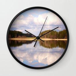 Serene Lake Summer Scene #decor #society6 Wall Clock