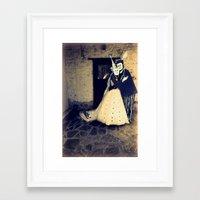 wedding Framed Art Prints featuring wedding by Bunny Noir