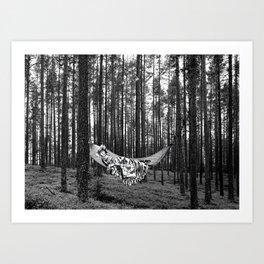BETWEEN TREES Art Print