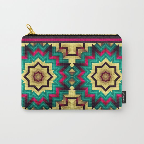 Geometric kaleidoscope with star shapes Carry-All Pouch