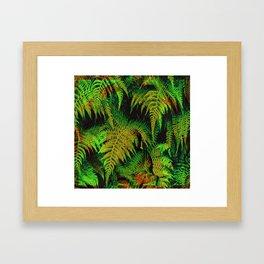 Camouflage Hidden Buddha in Ferns Framed Art Print