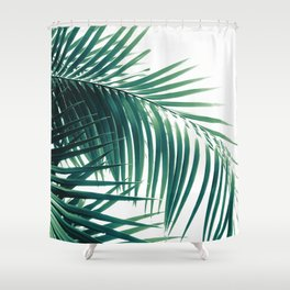Palm Leaves Green Vibes #6 #tropical #decor #art #society6 Shower Curtain