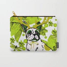 PUG POINSETTIA AND DRAGONFLIES Carry-All Pouch