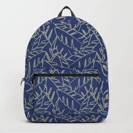 Into The Palms - Blue and Tan Backpack