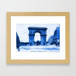 Vintage Postcard Dijon France Porte Guillaume Framed Art Print