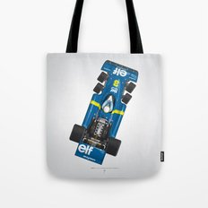 Outline Series N.º3, Jody Scheckter, Tyrrell-Ford 1976 Tote Bag