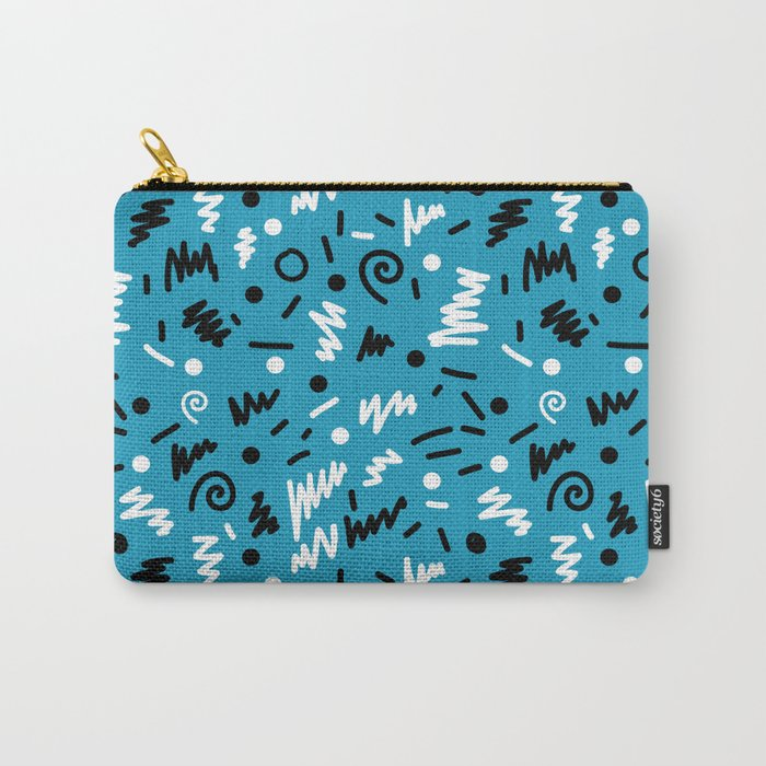 memphis rad shapes modern minimal abstract pattern trendy gifts Carry-All Pouch