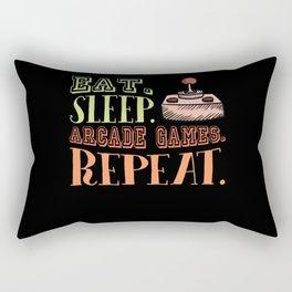 Eat Sleep Arcade Games Retro Arcade Rectangular Pillow