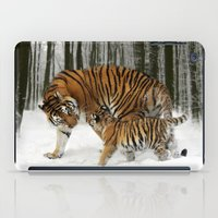tigers iPad Cases featuring Tigers by Julie Hoddinott