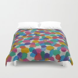 Rainbow Dots Abstract Watercolor Art Duvet Cover