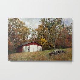Cromwell Barn in Autumn Metal Print